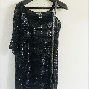 Sequence black mini dress